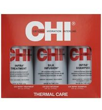 CHI Thermal Care Kit Infra Hair Treatment-Silk Infusion-Infra Shampoo -6oz Each.