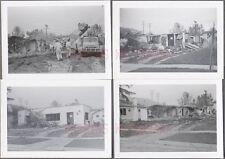 Lot of 4 Unusual Vintage Photos House Demolition & 1948 1949 Dodge Truck 676486