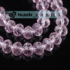 12/14/16/18mm Rondelle Faceted Glass Crystal  Loose Spacer Beads Jewelry Making