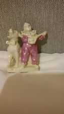Victorian? China/porcelain minstrel and dog fairing