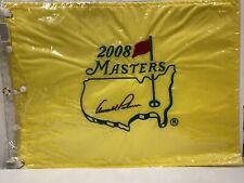 SIGNED GOLF MASTERS FLAG WINNER ARNOLD PALMER RARE HOF 2008