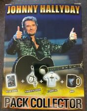 Pack COLLECTOR 2012 de  Johnny Hallyday pendentif croix T-shirt xl Mug set badge