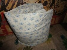 """MARTHA STEWART FRENCH BLUE GREEN COTTAGE FLORAL FULL FITTED SHEET 15"""""""