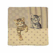"18"" (45cm) Cushion Cover Tappestry Style Designer Vintage Pillow ""Cats"" New"