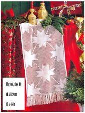 Crochet Pattern to Make a Christmas Star Filet Crochet Table Runner 10149