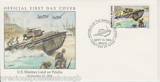 W81 1-1 MARSHALL ISLANDS FDC COVER 1994 U.S. MARINES LAND ON PELELIU 1944
