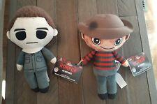 "New NWT Freddy Krueger Michael Myers 8"" Horror Plushies Funko Halloween Elm St."