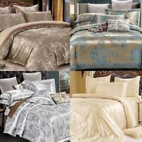 3pc Luxury Jacquard Quilt Cover Duvet With Pillow Case Set Bedding Double King