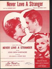 Never Love A Stranger 1958 Steve McQueen Sheet Music