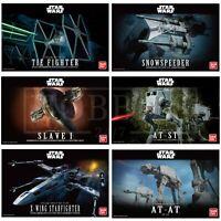Bandai Star Wars Model Kits X-Wing Tie Fighter AT-ST AT-AT Slave 1 Revell