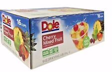 Dole Cherry Mixed Fruit in 100% Fruit Juice 4 OZ Cups 16 Pack
