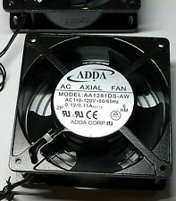 1- ADDA  AA1281DS-AW 110V/120V  Axial Muffin Computer Ventilation Blower Fan