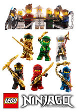 Lego NINJAGO characters set of decoration ICING WAFER edible cake topper A4 size