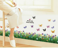 NEW Grass Floral Ladybug Vinyl Removable DIY Room Decor Wall Sticker Decal Mural
