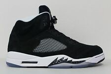 NIKE AIR JORDAN 5 RETRO OREO BLACK WHITE WOLF COOL GREY SILVER 136027-035 SZ 13