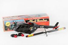 VINTAGE RARE TOY POLICE HELICOPTER BLACK THUNDER TAIWAN