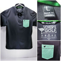 Travis Mathew The Chive Golf Mens Large Golf Shirt Polo Black