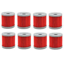 8 Pack Oil Filter For Suzuki Quadsport LTZ400 03-09 12-13 Quadracer LTR450 06-09