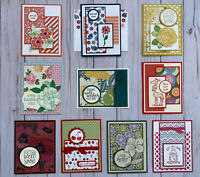 10 Handmade Get Well greeting cards/envelopes Stampin' Up! + more