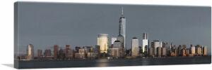 ARTCANVAS NYC Golden New York City Skyline Freedom Tower Canvas Art Print