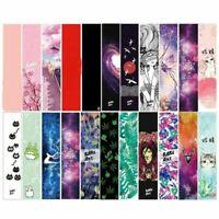 122cm Longboard Griptapes Sand Grip Tape Skateboard Sandpaper Colorful Graphic