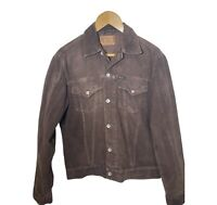 Retro Pepe Jeans Brown Cord Style Jacket Ladies Large / Men's Small