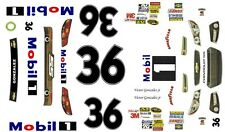 #36 Victor Gonzalez jr Mobil 1 2013 Chevy 1/64th HO Scale Slot Car Decals