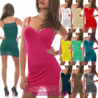 Top miniabito donna vestitino jersey fondo pizzo floreale abito canotta AS-435