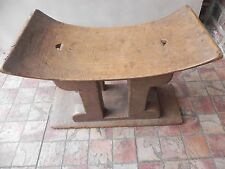 "Arts of Africa - Ashante Stool - Ghana -19.5"" Long x 10.5"" Wide x 14"" Hight"