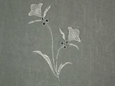 White sheer embroidered fabric crinkle eyelet material By the yard x 53 wide
