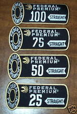 Federal Trap Skeet 25 50 75 100 Shooting Patches