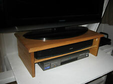 """Danish Oil """"Triple Tier"""" TV Riser - Solid/Assembled/Strong By Syracuse TV Risers"""