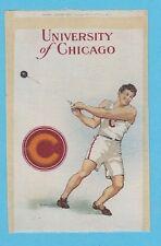 c1910s S22 tobacco silk / felt UNIVERSITY OF CHICAGO - Hammer Throw