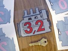 PORSCHE 911 3,2 Engine Displacement Car Window STICKER Decal 2,0 2,2 2,7 3,0