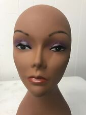 Mannequin Head Realistic with Makeup for wigs, caps, hats G11