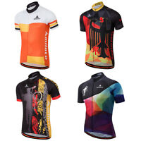 Men's Short Sleeve Cycle Jersey Top Bike Bicycle Cycling Jersey Shirts S-5XL