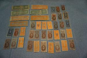1897-1926 Cigar Tax Stamp Lot (40) US Revenue Taxpaid