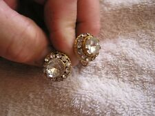 Beautiful Vintage Rhinestone Signed  Earrings