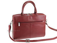 "Visconti Womens Large Briefcase 13"" Laptop Bag in Burgundy or Black 18427 Red"