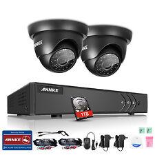 ANNKE 4CH 1080P Lite HD-TVI Video DVR 2x 720P 1MP Security Camera System 1TB HDD