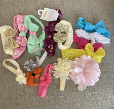 Lot Of 10 Baby Girl Headbands Most New And Never Worn