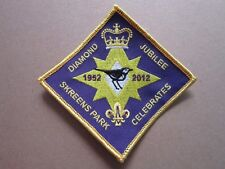 Skreens Park Diamond Jubilee Cloth Patch Badge Boy Scouts Scouting L3K D