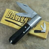"Rite Edge Barlow Pocket Knife 3.5"" Closed -Ebony Wood Handle 202823"