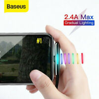 Baseus Elbow USB Lightning Charger Cable Charging Lead For iPhone XS XR 8 7 6s