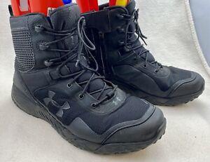 Under Armour Valsetz Clutch Fit Tactical Boots, Size 10.5 - Black