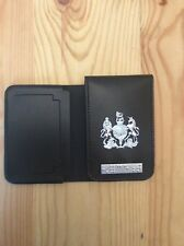 leather ID Card Wallet / Holder with crest and Enforcement Braille Bar