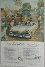 1957 FORD advertisement, New England Ford Dealers, Ford FAIRLANE convertible