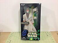 Star Wars POTF Obi-Wan Kenobi 12 inch figure & Glowing Lightsaber! Sealed