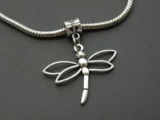 Silver Dragonfly Charm for European Bracelet or Necklace Buy2 Get1 Free