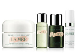 NEW Authentic La Mer mini 4 PC Gift Set with soft cream,cleansing,tonic,essence